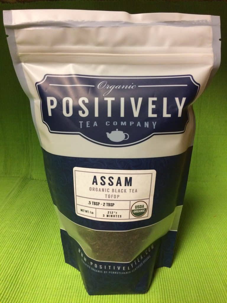 Black tea from Assam is packed by Organic Positively Tea