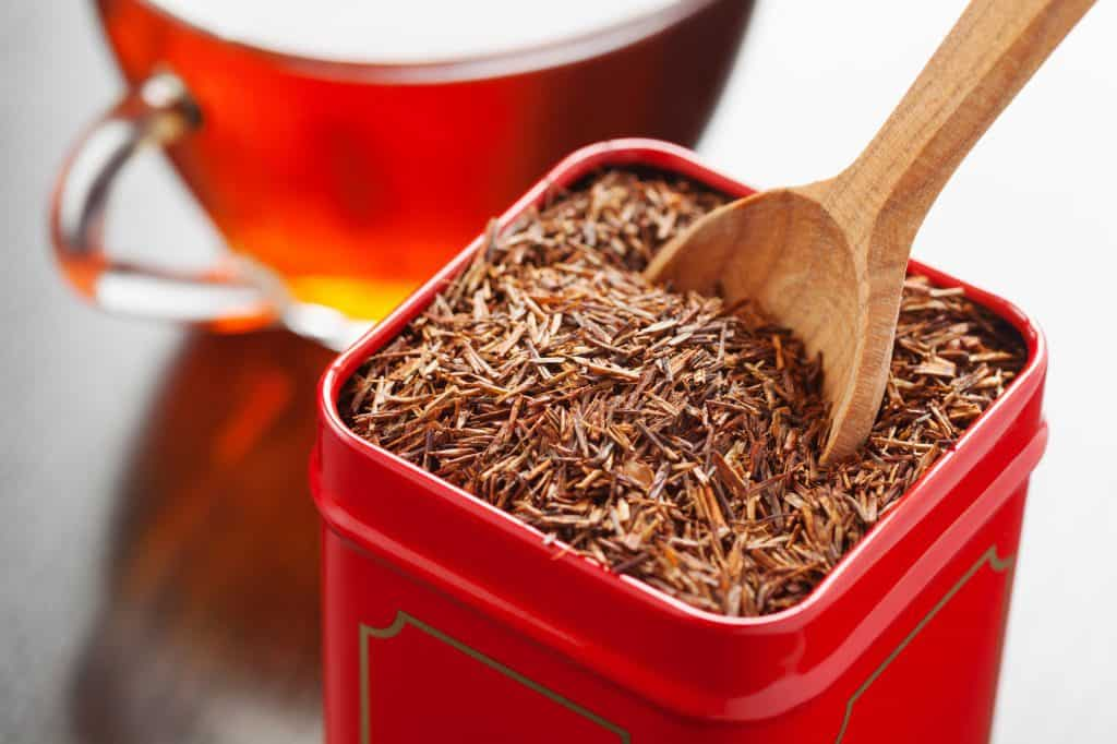 Rooibos in tea tin