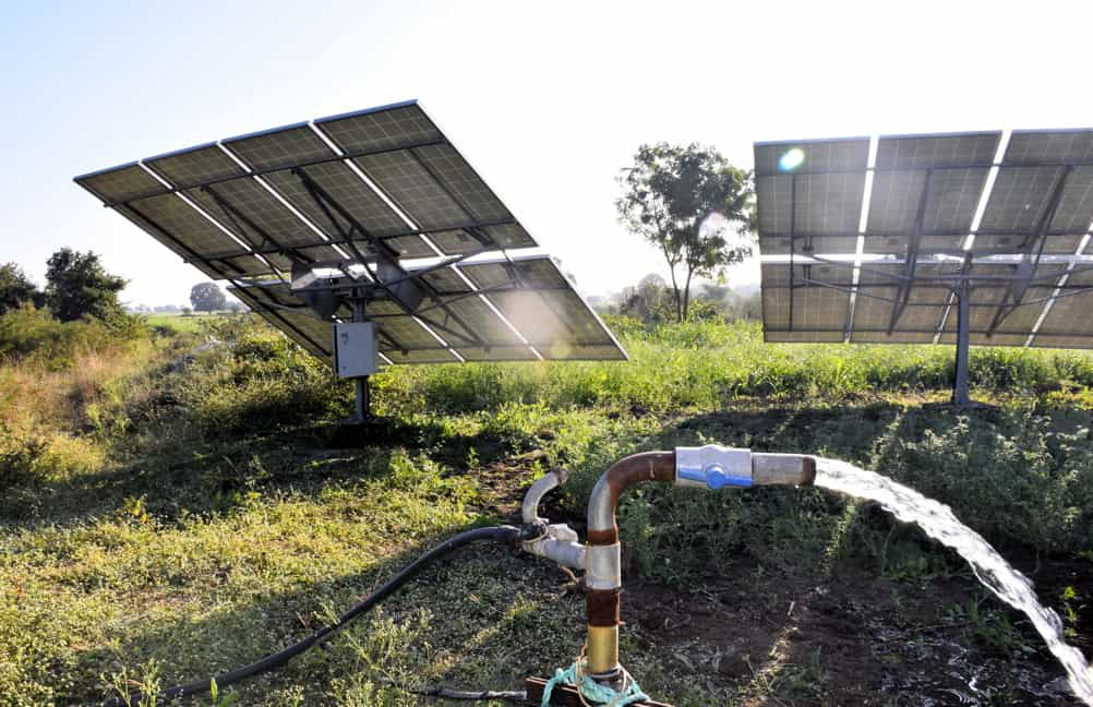 solar water powered water pump